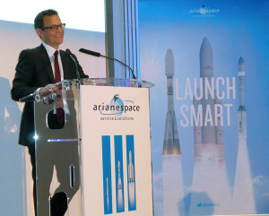 Addressing international journalists at his New Year's press conference, Chairman and CEO Stéphane Israël outlined Ariane 6's advantages as the successor to the company's workhorse Ariane 5.