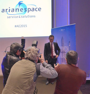 Arianespace's annual press conference attracted reporters from the trade, technical, financial and daily press, maintaining its tradition as a key starting point for aerospace journalists at the New Year.