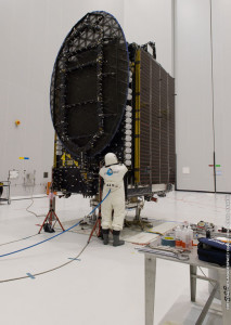 THOR 7 is prepared for fueling in the Spaceport's S5 payload preparation facility.