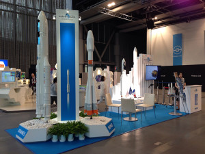 "The Arianespace launcher family of Ariane 5, Soyuz, Vega and the upcoming Ariane 6 were showcased in Tokyo, Japan on the company's ""la France est innovante"" booth."