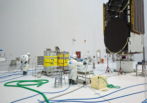 ABS-2's propellant loading was performed inside the S5B integration and fueling hall of the Spaceport's S5 payload preparation facility.