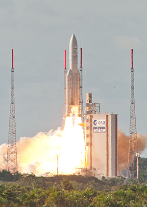 Ariane 5's heavy-lift success with Alphasat and INSAT-3D was the launcher's 70th flight from French Guiana.