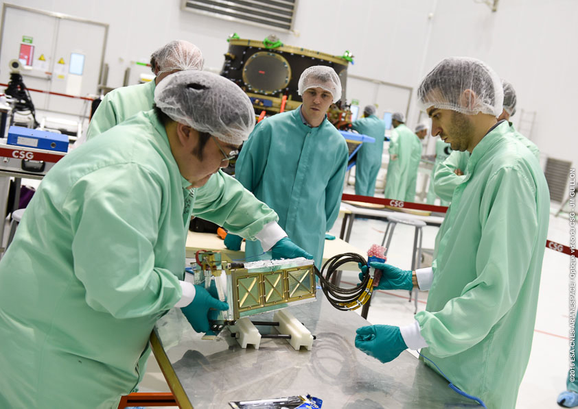 The three CubeSat payloads from ESA's Fly Your Satellite! program