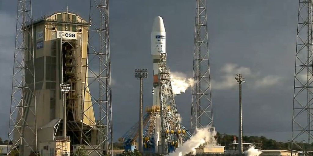 Flight VS14 was the 14th mission from the Spaceport in French Guiana for Arianespace's medium-lift launcher.