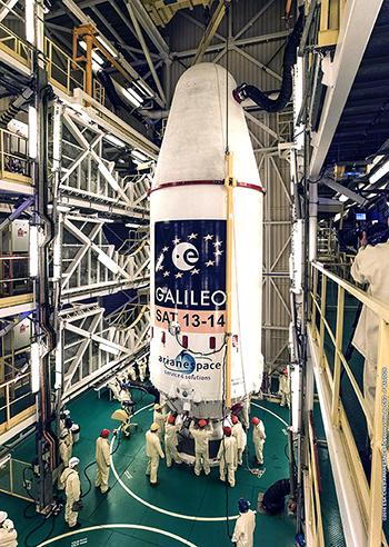"""Soyuz after integration of its """"upper composite"""""""