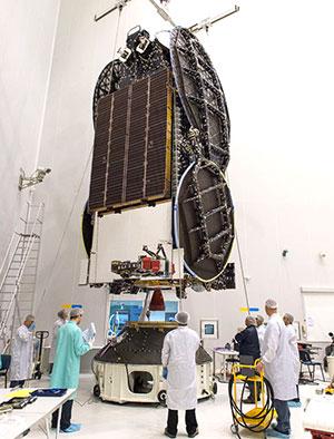 EchoStar XVIII's fit-check for Arianespace's Ariane 5 Flight VA230