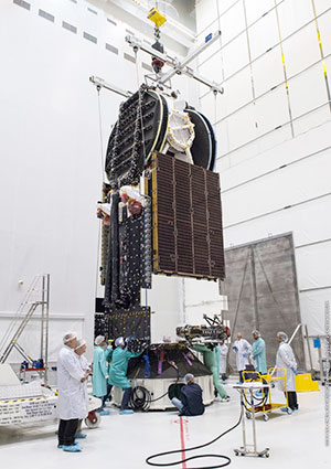 Fit-check validation underway for Flight VA231's Sky Muster™ II payload