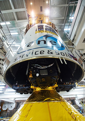 Launcher build-up complete for the next Ariane 5 launch