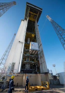 Vega launcher basic assembly for Arianespace's Flight VV08 with Vega