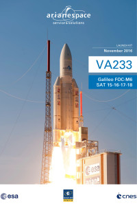 Launch kit cover for Ariane 5's Flight VA233 with Galileo satellites