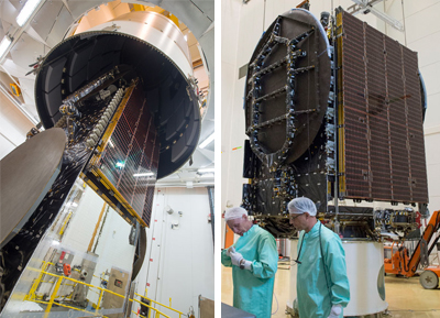 Star One D1 and JCSAT-15 ready for integration on the Ariane 5 for Arianespace Flight VA234