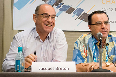 Arianespace's Jacques Breton participating at the Pacific Telecommunications Council (PTC) annual conference's Satellite Industry Luncheon Panel.