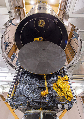 Ariane 5's upper component is integrated at the Spaceport