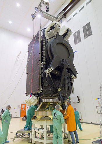 Installation of SES-15 on its payload adapter