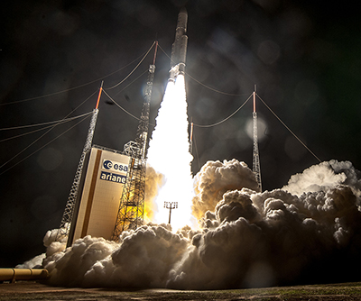 Ariane 5 liftoff on Flight VA239