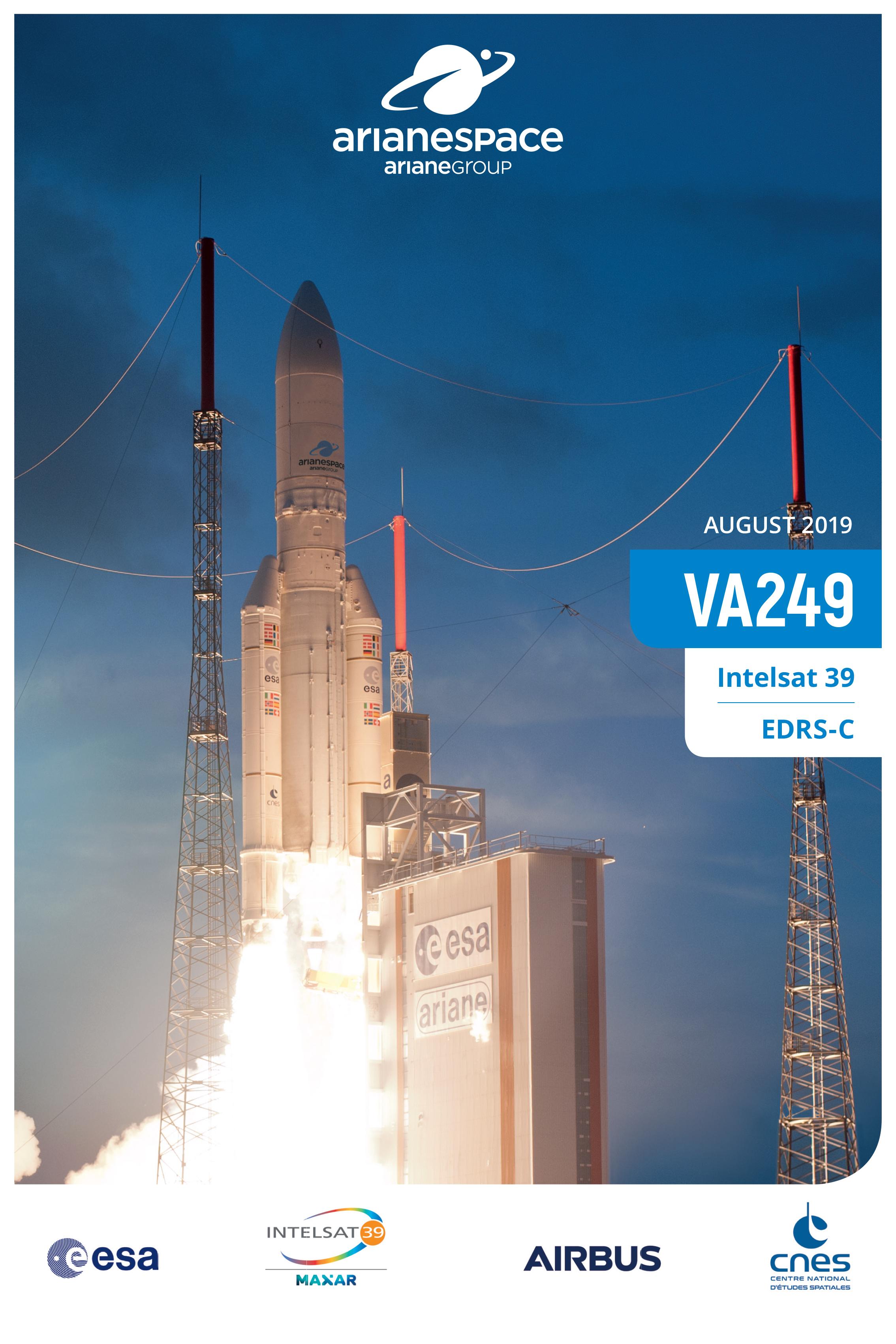 Launch kit cover  Flight VA249  Intelsat 39 and EDRS-C