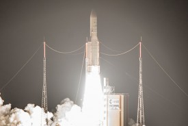The Ariane 5 flight with Arabsat-6B (BADR-7) and GSAT-15 marked the workhorse heavy-lift vehicle's 69th consecutive success.