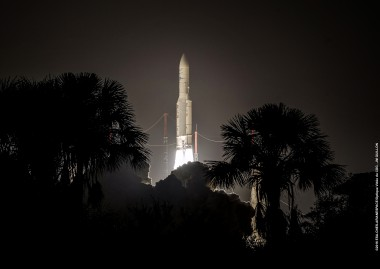 Flight VA228 was the 84th launch for Arianespace's Ariane 5, which operates from French Guiana.