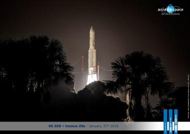 Décollage - Ariane 5 - VA 224- Le 15/07/2015.
