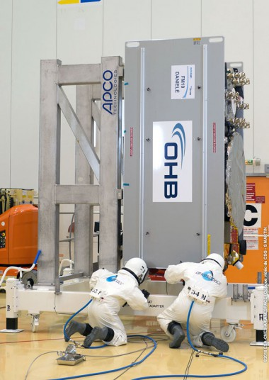Fueling of a European Galileo navigation satellite
