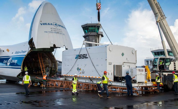 BRIsat's arrival in French Guiana