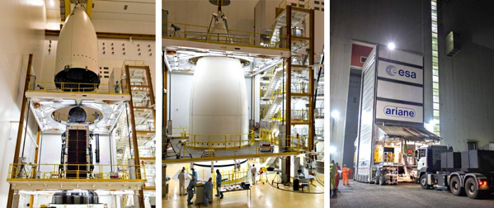 Intelsat 33e and Intelsat 36 are readied for launcher integration