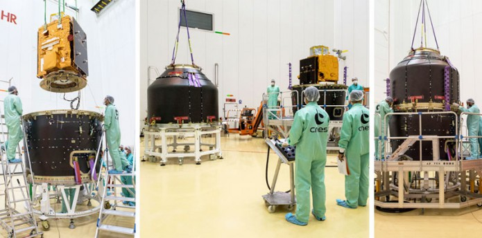 Peru's first Earth observation satellite is integrated for its Arianespace Vega launch on September 15