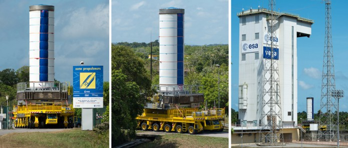Vega launcher components are moved to the SLV launch zone