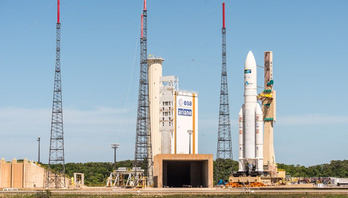 Ariane 5 is in the Spaceport's ELA-3 launch zone
