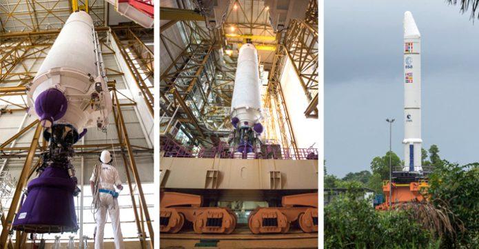 Ariane 5 build-up for Arianespace's Flight VA238