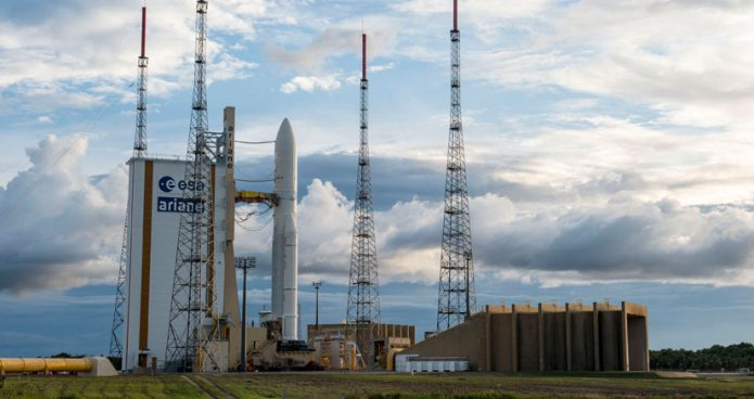 Ariane 5 on the ELA-3 launch pad ahead of Arianespace's Flight VA238