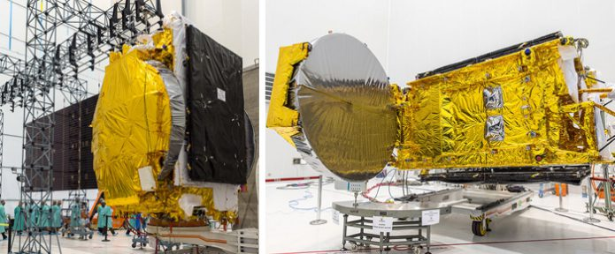 GSAT-17 undergoes ground-based checkout activity