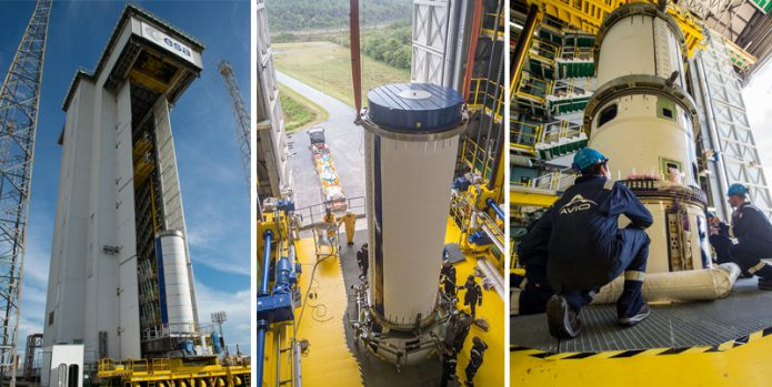Vega is assembled for Arianespace's August 1 mission