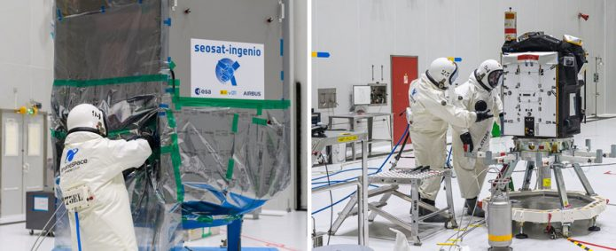 SEOSAT-Ingenio and Taranis are fueled for their November launch on Arianespace's Vega